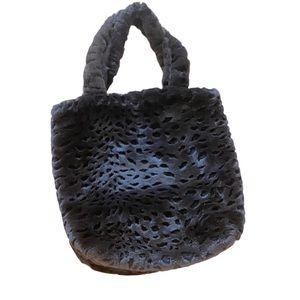 Fun Faux Fur Fuzzy Animal Print Shoulder Bag
